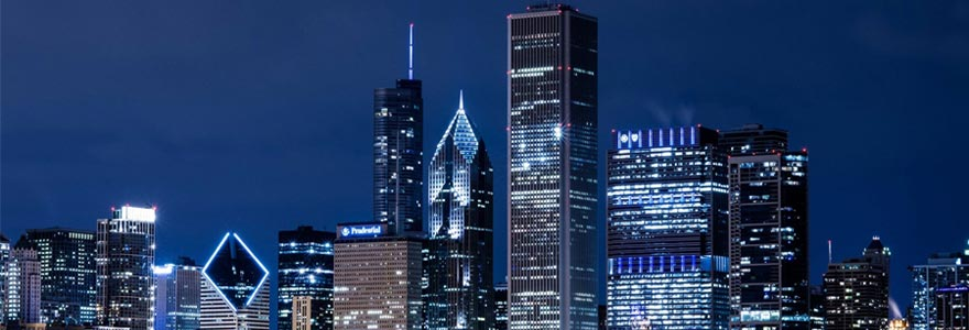 une ville de gratte-ciel